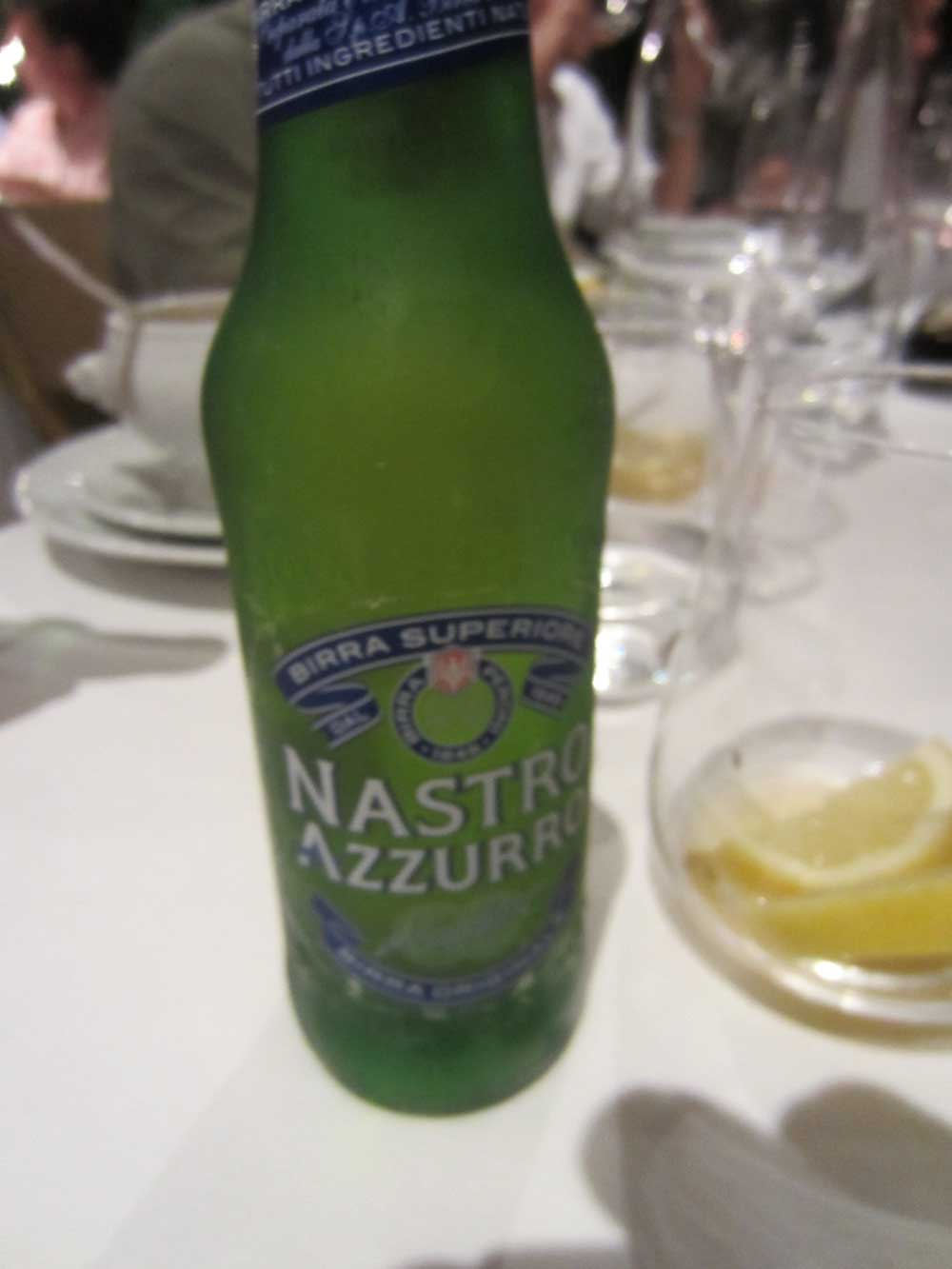 Italian beer.. many a went down that night!